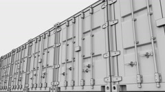 Line of cargo containers. 4K seamless loop sketchy animation, ProRes Stock Footage