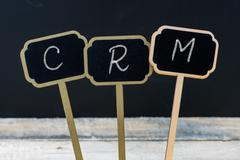 Business message CRM Customer Relationship Management Stock Photos