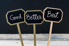 Business message Good, Better, Best Stock Photos