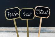 Business message Fresh New Start Stock Photos