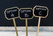 Business message Option A, Option B, Option C Stock Photos