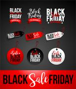 Black Friday Sale Discount Banner Stock Illustration