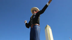 Big Tex at the State Fair of Texas Stock Footage