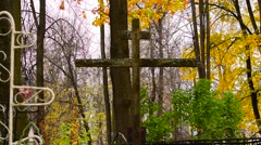 Big wooden cross Stock Footage