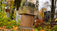 Old Headstone Stock Footage
