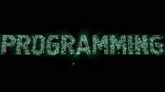 Programming Binary Code Intro Animation Stock Footage