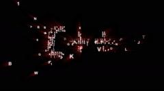 C++ Binary Code Intro Animation Stock Footage