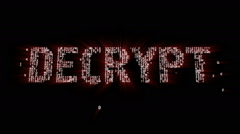 Decrypt Binary Code Intro Animation Stock Footage