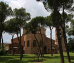 Ancient basilica Saint Apollinare in Classe near the city of Ravenna in Italy Stock Photos