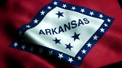 Loopable: Flag of Arkansas 60fps Stock Footage