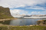 Mountain view in Greenland Stock Photos