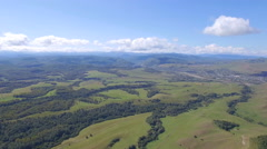 Aerial filds, meadows Stock Footage
