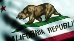 Loopable: Flag of California 60fps Stock Footage