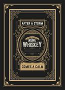 Old Whiskey label with vintage frames Stock Illustration