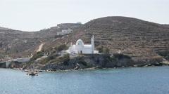 Agia irini church in ormos harbor on the island of ios greece Stock Footage