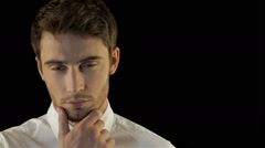 Man expresses thoughtfulness Stock Footage
