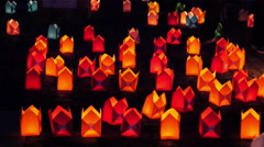 Lots of lightening candles in the night. Stock Footage