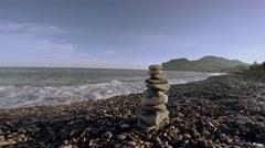 Zen balance stones Stock Footage