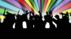 Animated cartoon. Cartoon people dancing. Stock Footage