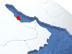 Qatar on globe Piirros