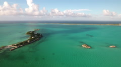 Small Island in the Bahamas Stock Footage