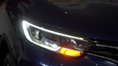 Turn signal in the headlight of a car  1 Stock Footage