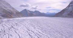 Aletsch ice plain - Aerial 4K Stock Footage