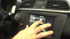 Changing colours on control panel in the car 1 Stock Footage