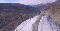 Aletsch glacier - Aerial 4K Stock Footage