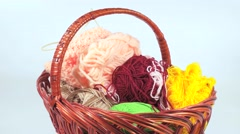 Basket with threads Stock Footage