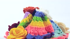 Knitted cloth Stock Footage
