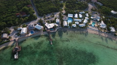 Cluster of Island Beach Resorts Stock Footage
