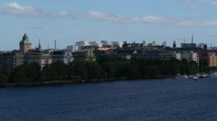 Stockholm - Gamla stan from distance Stock Footage