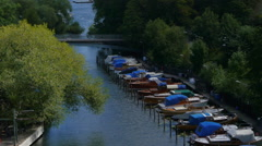 Stockholm - Boats Stock Footage