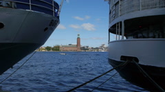 Stockholm - Riddarfjärden - Boats Stock Footage