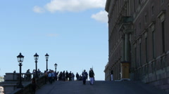 Stockholm - Royal Guards Stock Footage