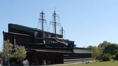 Stockholm - Vasa Museum Stock Footage