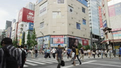 Sunday shopping on Main Street of Akihabara Electric District Stock Footage