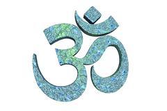 Hindu word reading Om or Aum symbol Stock Illustration