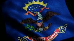 Loopable: Flag of North Dakota 60fps Stock Footage