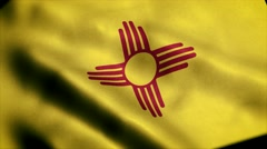 Loopable: Flag of New Mexico 60fps Stock Footage