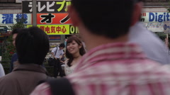 Big Shop Advertisings in Akihabara Electric District, the Otaku Center Stock Footage