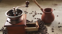 Making coffee in cezve Stock Footage
