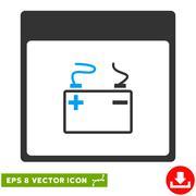 Accumulator Calendar Page Vector Eps Icon Stock Illustration