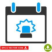 Alert Calendar Day Vector Eps Icon Stock Illustration