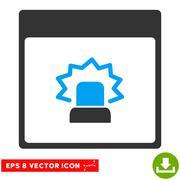 Alert Calendar Page Vector Eps Icon Stock Illustration