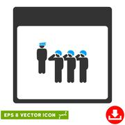 Army Squad Calendar Page Vector Eps Icon Stock Illustration