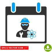 Atomic Engineer Calendar Day Vector Eps Icon Stock Illustration