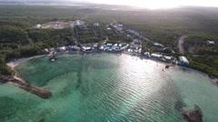 Aerial tropical island beach Stock Footage