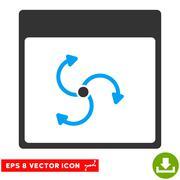 Cyclone Calendar Page Vector Eps Icon Stock Illustration
